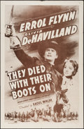 """Movie Posters:Western, They Died with Their Boots On (Dominant, R-1956). One Sheet (27"""" X 41""""). Western.. ..."""