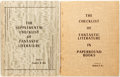 Books:Science Fiction & Fantasy, Bradford M. Day. Two Bibliographies of Fantastic Literature . Denver, New York: Science Fiction & Fantasy Publications, [196... (Total: 2 Items)
