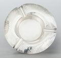 Silver Holloware, Continental:Holloware, A JAKOB GRIMMINGER GERMAN SILVER HAND HAMMERED ASHTRAY. JakobGrimminger, Schwabisch Gmund, Germany, circa 1930. Marks: (cre...