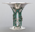 Silver & Vertu:Hollowware, AN EMILIA CASTILLO MEXICAN SILVER-PLATED AND PATINATED BRONZE CENTERPIECE. Emilia Castillo, Taxco, Mexico, circa 2000. Marks...