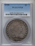 Early Dollars, 1799 $1 7x6 Stars VF20 PCGS. B-9, BB-166, R.1....