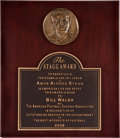 Football Collectibles:Others, 2008 Bill Walsh The Stagg Award Presentation Plaques Lot of 2....