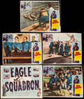 "Movie Posters:War, Eagle Squadron & Others Lot (Universal, 1942). Title LobbyCard, Trimmed Lobby Cards (4), & Lobby Cards (7) (11"" X 14"").War... (Total: 12 Items)"