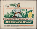 "Movie Posters:Action, Blowing Wild (Warner Brothers, 1953). Half Sheet (22"" X 28""). Action.. ..."