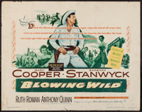 "Blowing Wild (Warner Brothers, 1953). Half Sheet (22"" X 28""). Action"