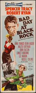 "Movie Posters:Thriller, Bad Day at Black Rock (MGM, 1955). Insert (14"" X 36""). Thriller.. ..."