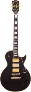 Musical Instruments:Electric Guitars, 1958 Gibson Les Paul Custom Black Solid Body Electric Guitar,Serial # 8 1241. ...