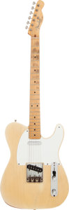 Musical Instruments:Electric Guitars, 1955 Fender Telecaster Blonde Solid Body Electric Guitar, Serial #7015....