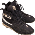 Baseball Collectibles:Others, 1996 Derek Jeter Game Worn, Signed Rookie Cleats....