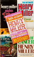 Books:Literature 1900-up, Henry Miller. SIGNED. Group of Five Paperbacks. Various publishers.Later editions. All SIGNED by Miller. Octavos. Original ... (Total:5 Items)