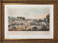 Baseball Collectibles:Others, 1863 Union Prisoners at Salisbury Civil War Baseball Lithograph....