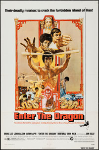"Enter the Dragon (Warner Brothers, 1973). One Sheet (27"" X 41""). Action"