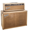 Musical Instruments:Amplifiers, PA, & Effects, 1963 Fender Tremolux Blonde Guitar Amplifier Head and Cabinet. ...
