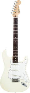 Musical Instruments:Electric Guitars, 1987 Fender Stratocaster White Solid Body Electric Guitar, Serial #E421032. ...