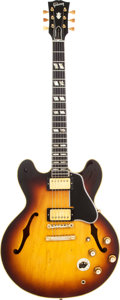Musical Instruments:Electric Guitars, 1961 Gibson ES-345 Sunburst Semi-Hollow Body Electric Guitar,Serial # 37883. ...