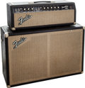 Musical Instruments:Amplifiers, PA, & Effects, 1966 Fender Tremolux Black Guitar Amplifier Head and Cabinet. ...