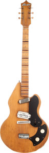 Musical Instruments:Electric Guitars, 1958 Stratosphere Natural Solid Body Electric Guitar....