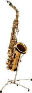 Musical Instruments:Horns & Wind Instruments, 1922 C.G. Conn LTD Brass Alto Saxophone, Serial # 74060. ...