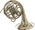 Musical Instruments:Horns & Wind Instruments, 1978 C.G. Conn Nickel Double French Horn, Serial # 6K840063. ...