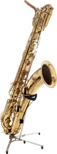 Musical Instruments:Horns & Wind Instruments, 1936 Conn Naked Lady Baritone Saxophone, Serial # 276502. ...