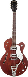 Musical Instruments:Electric Guitars, 1964 Gretsch Tennessean Burgundy Solid Body Electric Guitar, Serial# 80573....
