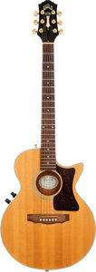 Musical Instruments:Acoustic Guitars, 1992 Guild Songbird Natural Acoustic Electric Guitar, Serial #KK001467....