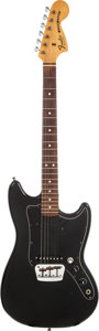 Musical Instruments:Electric Guitars, 1978 Fender Musicmaster Black Solid Body Electric Guitar, Serial # S807546....