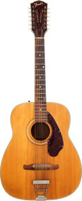 Musical Instruments:Acoustic Guitars, 1960's Fender Natural 12-String Acoustic Guitar, Serial # 9168H1270....