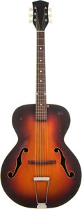 Musical Instruments:Acoustic Guitars, 1940's National Sunburst Archtop Acoustic Guitar, Serial #X50774....
