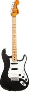 Musical Instruments:Electric Guitars, 1979 Fender Stratocaster Black Solid Body Electric Guitar, Serial # S919250....