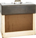 Musical Instruments:Amplifiers, PA, & Effects, Circa 1961 Gibson Maestro GA-45T Grey and White AccordionAmplifier. ...