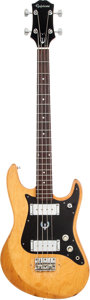 Musical Instruments:Bass Guitars, Circa 1974 Epiphone ET 280 Natural Electric Bass Guitar. ...
