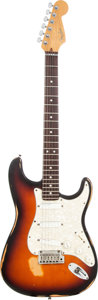 Musical Instruments:Electric Guitars, 1995 Fender Stratocaster Plus Sunburst Solid Body Electric Guitar,Serial # N556900. ...