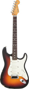 Musical Instruments:Electric Guitars, 1991 Fender Stratocaster Plus Sunburst Solid Body Electric Guitar, Serial # N1005899....