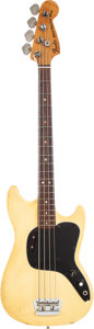 Musical Instruments:Bass Guitars, 1978 Fender Musicmaster Olympic White Electric Bass Guitar, Serial # S824255....
