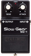 Musical Instruments:Amplifiers, PA, & Effects, Circa 1980 Boss Slow Gear SG-1 Black Effects Pedal. ...