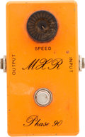 Musical Instruments:Amplifiers, PA, & Effects, Early 1970's MXR Phase 90 Script Logo Orange Effects Pedal. ...