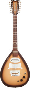 Musical Instruments:Electric Guitars, Circa 1962 Danelectro Bellzouki Brownburst Solid Body ElectricGuitar. ...