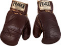 Boxing Collectibles:Memorabilia, 1964 Cassius Clay (Muhammad Ali) Fight Worn Gloves from First Liston Bout....
