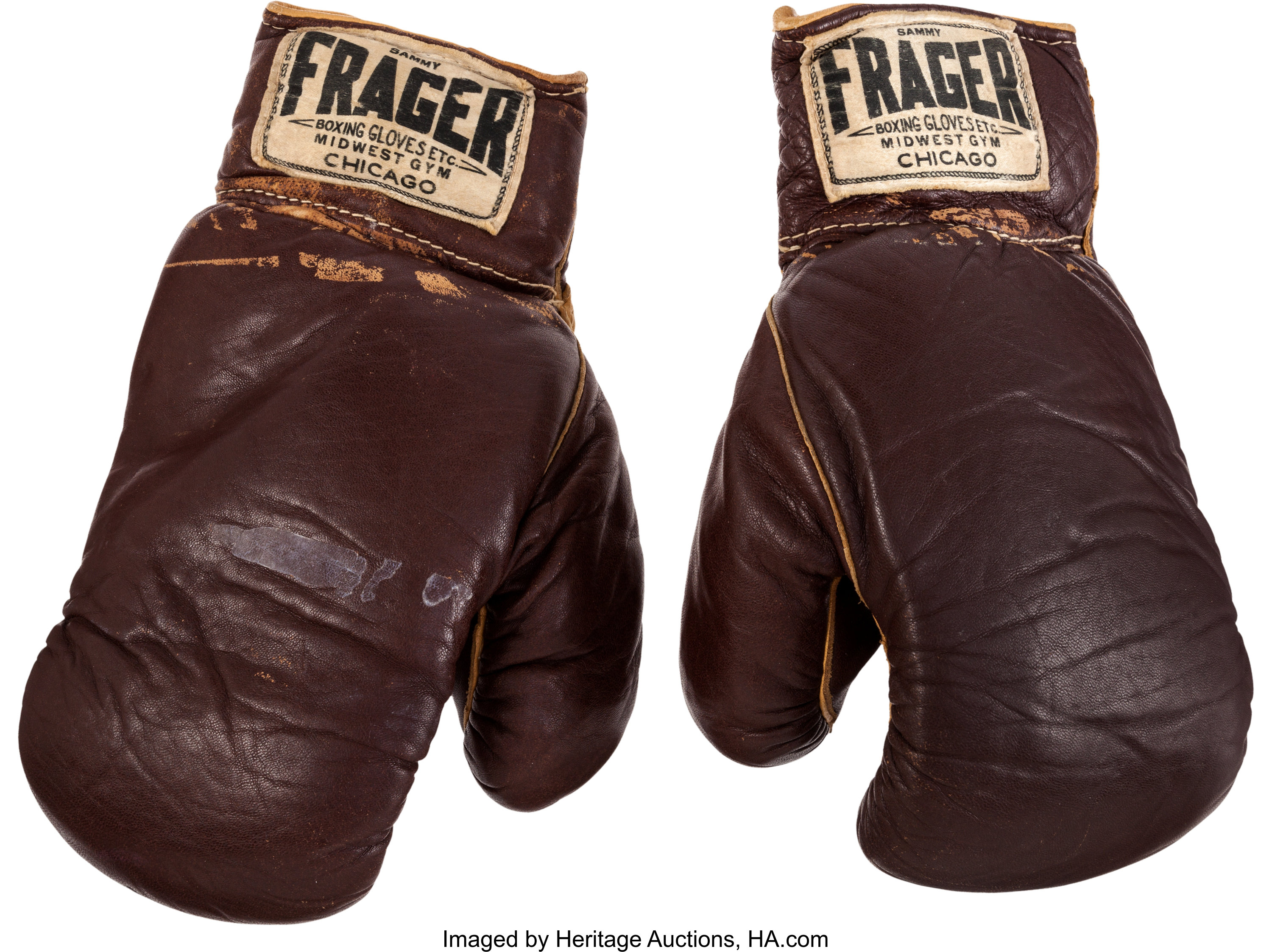 Brown Title Boxing Collector/'s Muhammed Ali Autograph Leather Boxing Gloves