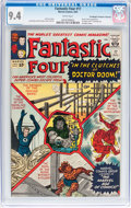Silver Age (1956-1969):Superhero, Fantastic Four #17 Don/Maggie Thompson Collection pedigree (Marvel, 1963) CGC NM 9.4 White pages....