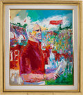 Football Collectibles:Others, 1993 Bill Walsh as Stanford Cardinal Head Coach Original Painting by LeRoy Neiman....