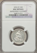 Seated Quarters: , 1876-CC 25C -- Improperly Cleaned -- NGC Details. UNC. NGC Census:(3/159). PCGS Population (3/160). Mintage: 4,944,000. Nu...