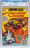 Silver Age (1956-1969):Superhero, Showcase #12 Challengers of the Unknown (DC, 1958) CGC VF 8.0Off-white to white pages....