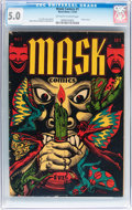 Golden Age (1938-1955):Horror, Mask Comics #1 (Rural Home , 1945) CGC VG/FN 5.0 Off-white to whitepages....