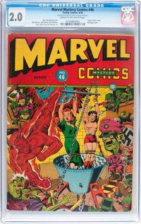 Marvel Mystery Comics #46 (Timely, 1943) CGC GD 2.0 Cream to off-white pages