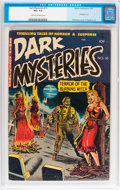 Golden Age (1938-1955):Horror, Dark Mysteries #10 (Master Publications, 1953) CGC VG+ 4.5 Cream tooff-white pages....