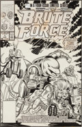 Original Comic Art:Covers, Jose Delbo and Joe Sinnott Brute Force #1 Cover Original Art(Marvel, 1990)....