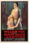 "Movie Posters:Drama, Ambition (Fox, 1916). One Sheet (28.25"" X 42.25"").. ..."