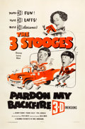 "Movie Posters:Comedy, Pardon My Backfire (Columbia, 1953). One Sheet (27"" X 41"") 3-DStyle.. ..."